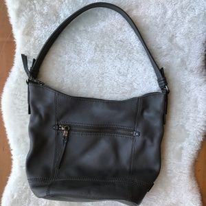 The Sak Slate Leather Sequoia Hobo Shoulder bag